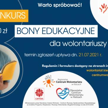 Rusza konkurs na bony edukacyjne dla wolontariuszy